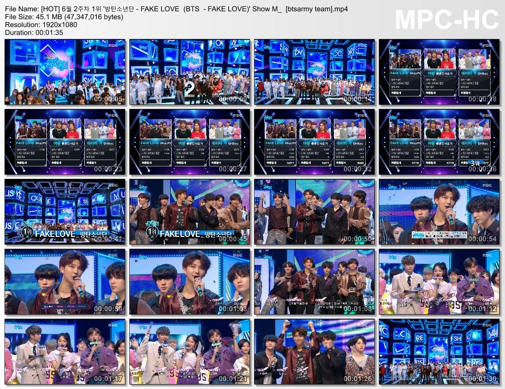 3a7 [hot] 6%EC%9B%94 2%EC%A3%BC%EC%B0%A8 1%EC%9C%84 39 %EB%B0%A9%ED%83%84%EC%86%8C%EB%85%84%EB%8B%A8   fake love (bts   fake love) 39 show m [btsarmy team].mp4 thumbs - [Video] BTS at MBC Show!Music Core [180609] #FakeLove11thWin